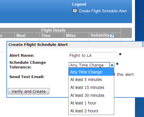 Flight Schedule Alerts